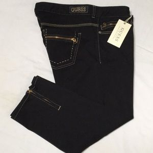 Guess Black Stretch Cropped Jeans Size 32